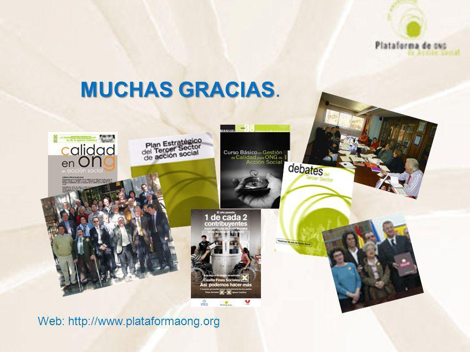 MUCHAS GRACIAS. Web: http://www.plataformaong.org