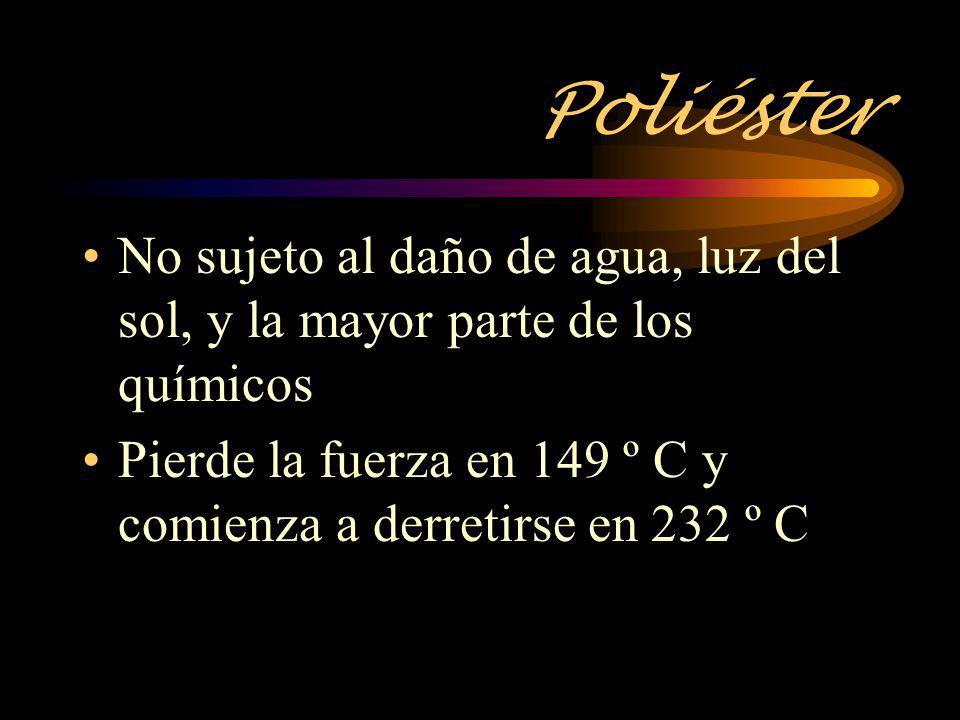 Poliéster No sujeto al daño de agua, luz del sol, y la mayor parte de los químicos.