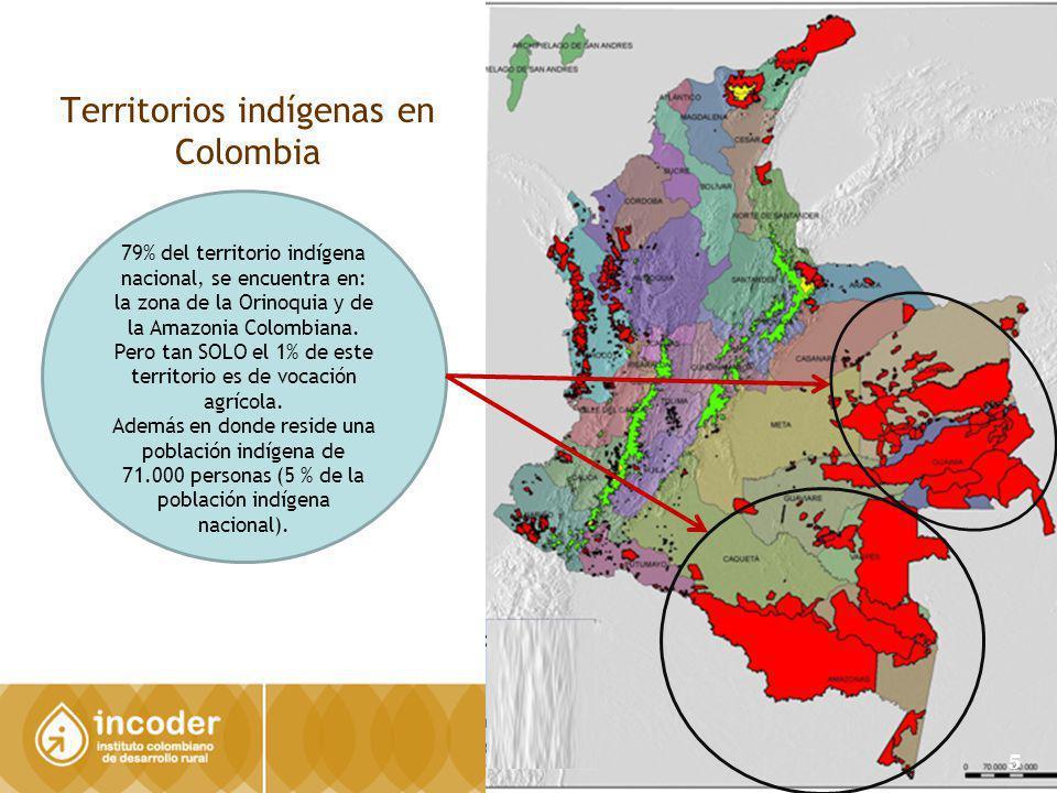 Territorios indígenas en Colombia