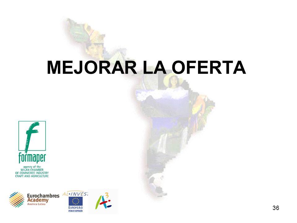 MEJORAR LA OFERTA