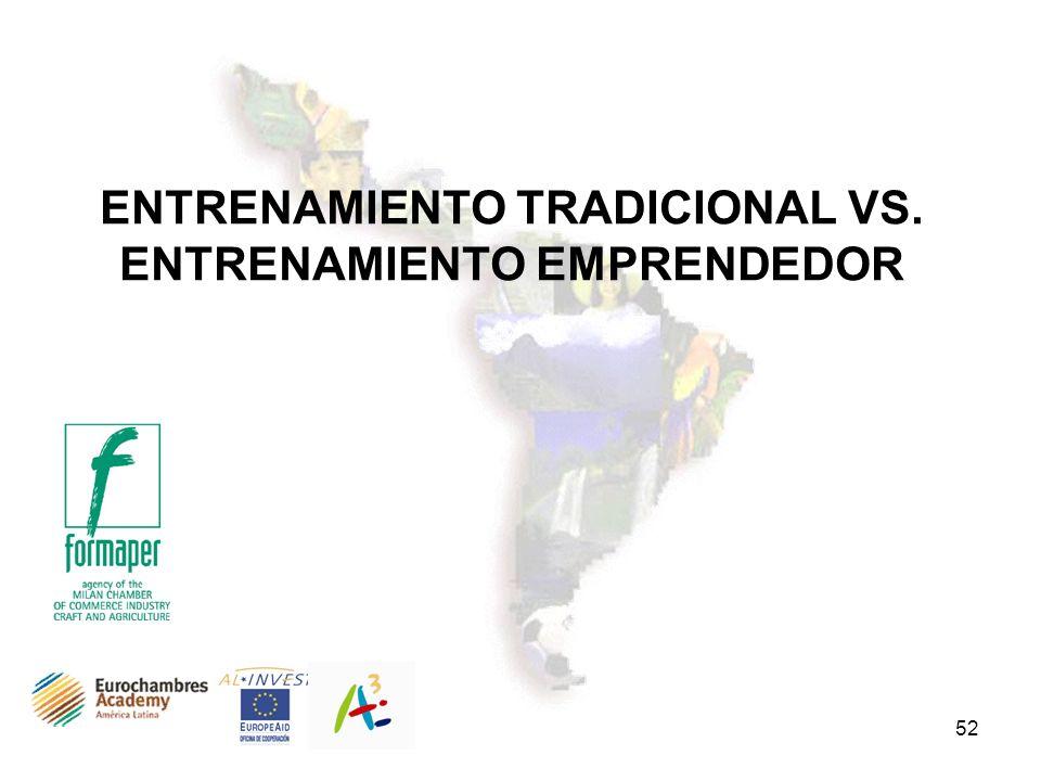 ENTRENAMIENTO TRADICIONAL VS. ENTRENAMIENTO EMPRENDEDOR
