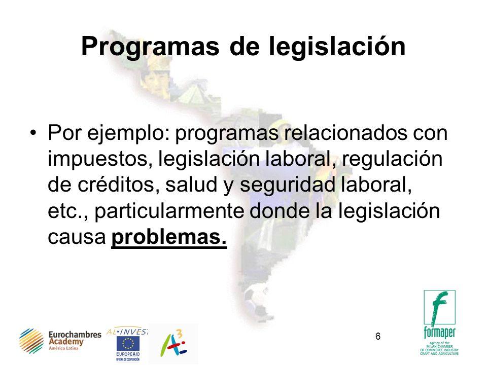 Programas de legislación
