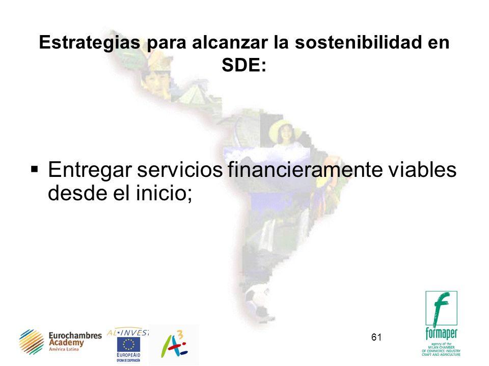 Estrategias para alcanzar la sostenibilidad en SDE: