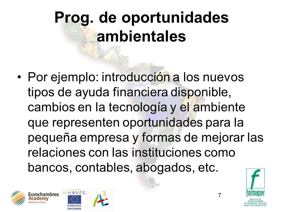 Prog. de oportunidades ambientales
