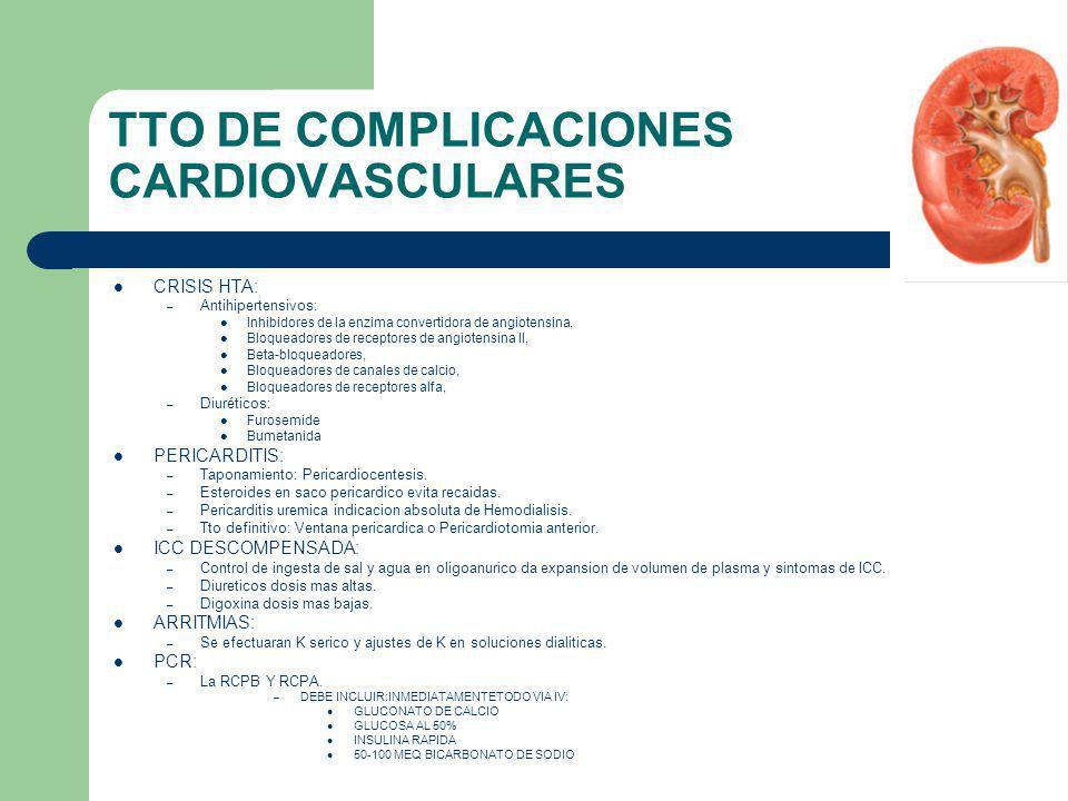 TTO DE COMPLICACIONES CARDIOVASCULARES