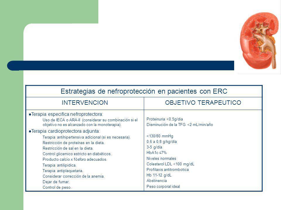 Estrategias de nefroprotección en pacientes con ERC
