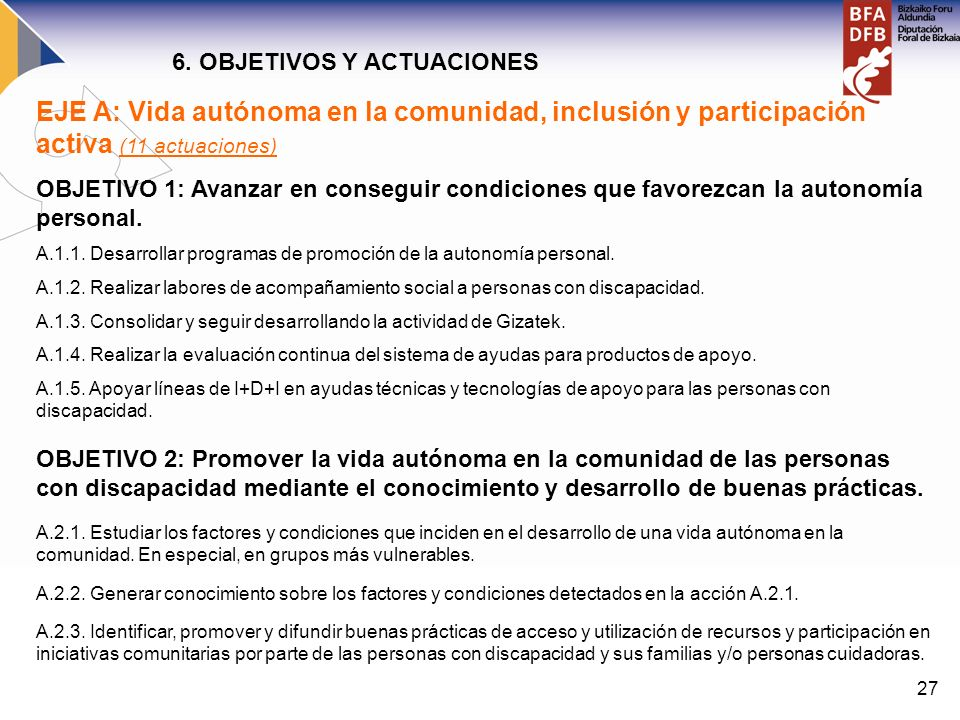 6. OBJETIVOS Y ACTUACIONES