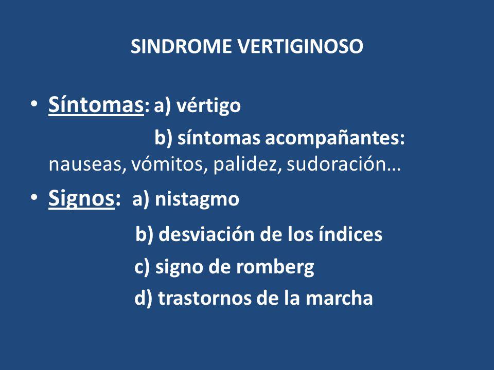 b) desviación de los índices