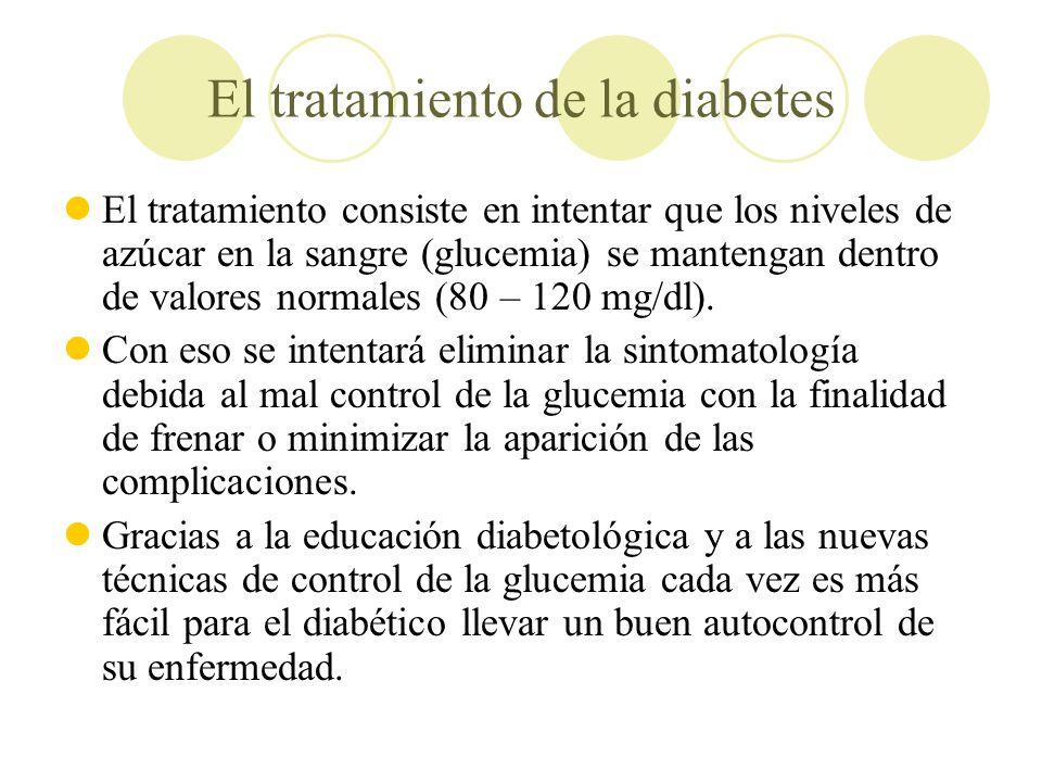 El tratamiento de la diabetes