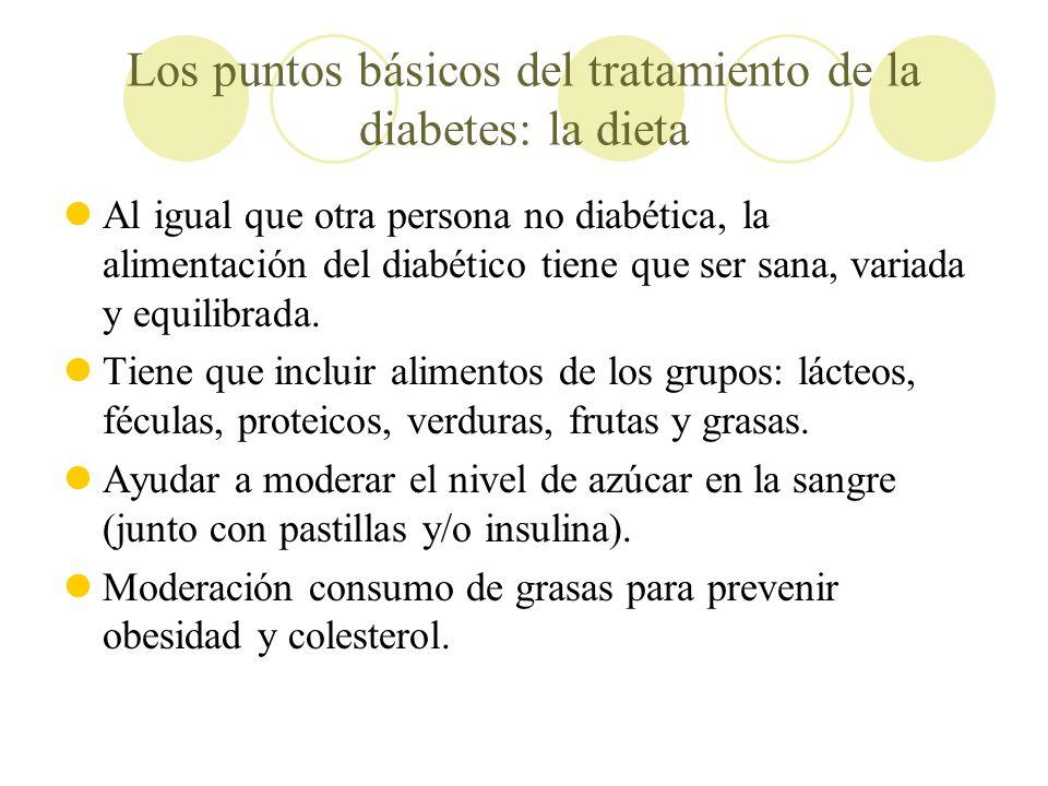 Los puntos básicos del tratamiento de la diabetes: la dieta