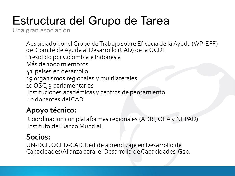 Estructura del Grupo de Tarea