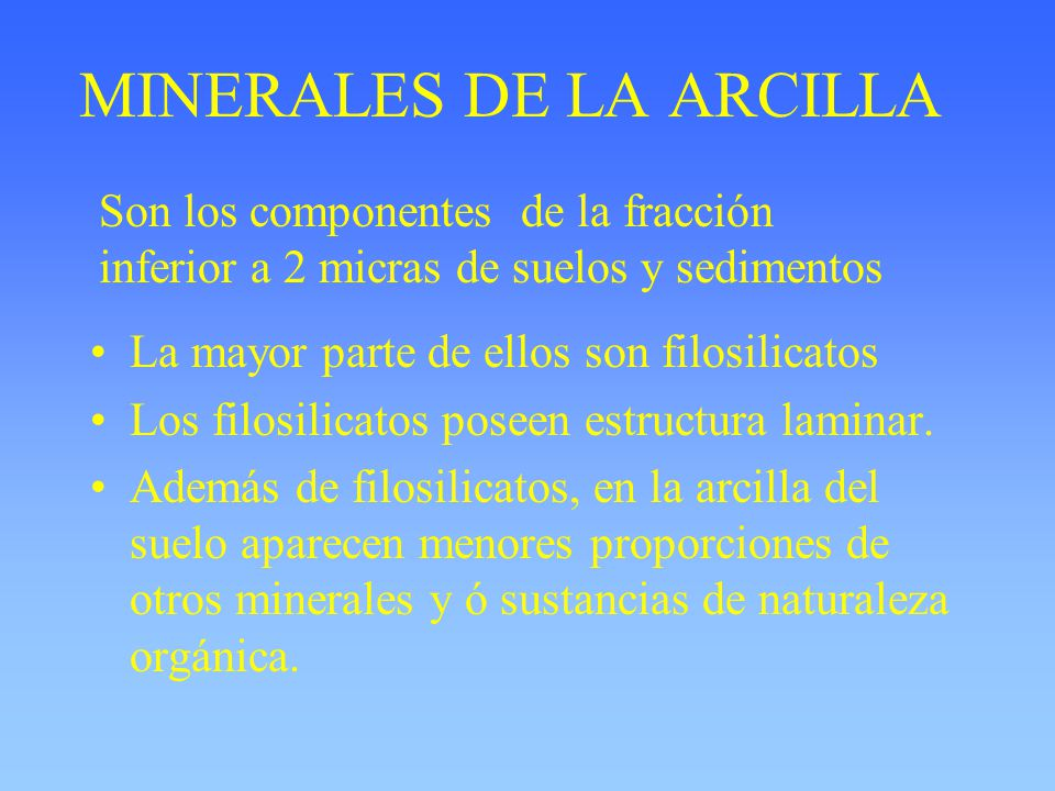 MINERALES DE LA ARCILLA