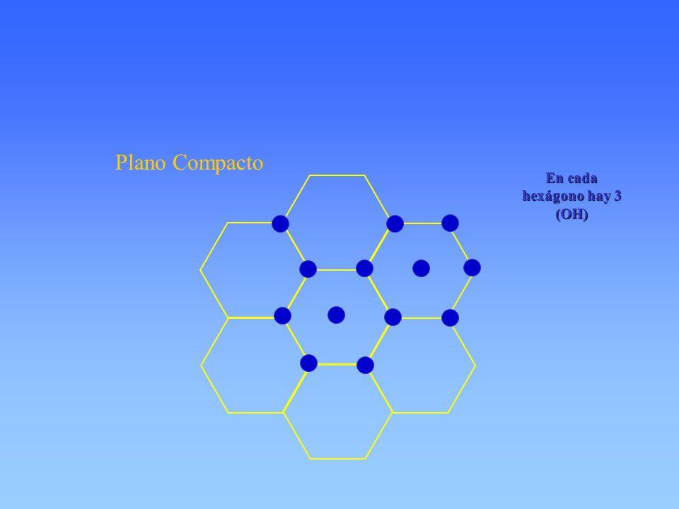 En cada hexágono hay 3 (OH)