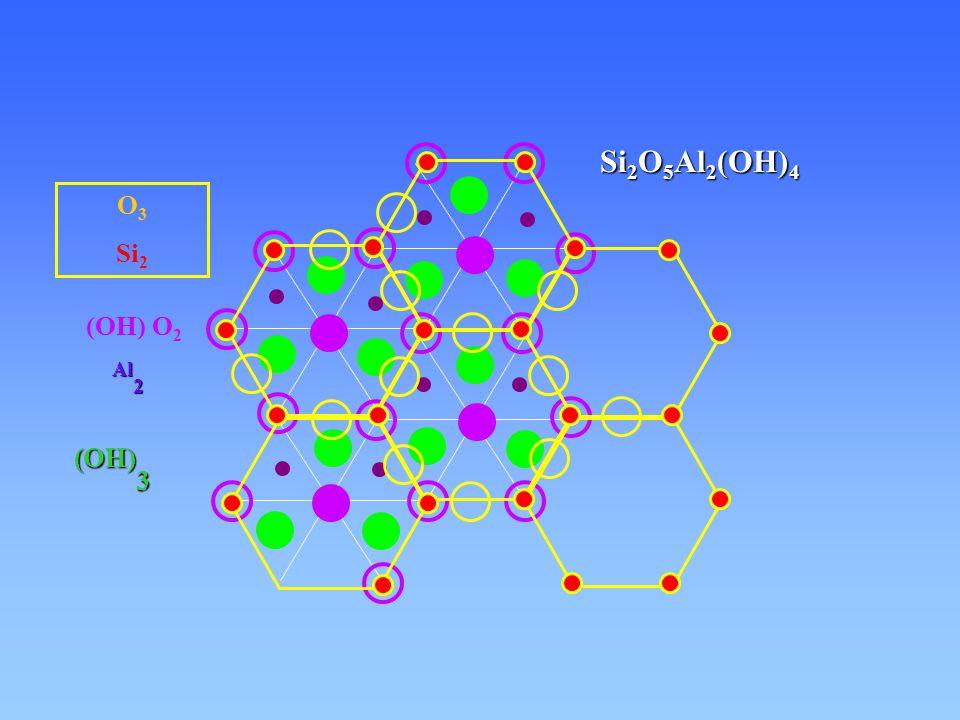 Si2O5Al2(OH)4 O3 Si2 (OH) O2 Al2 (OH)3