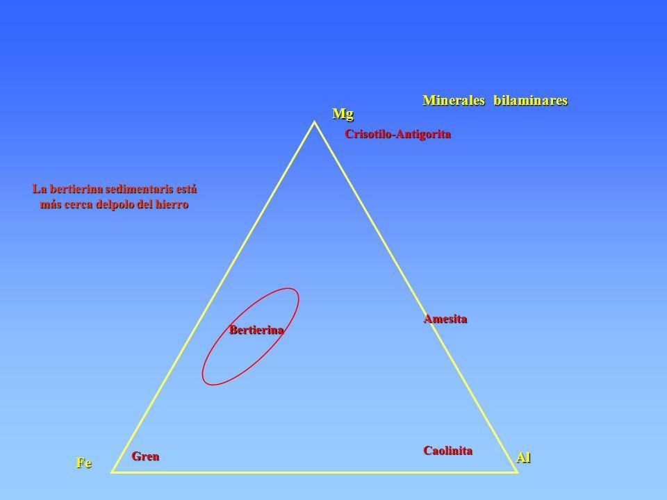 Minerales bilaminares Mg Fe Al