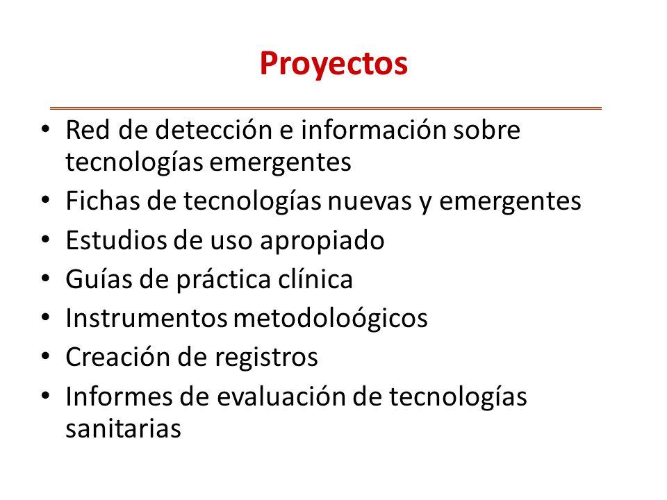 Proyectos Red de detección e información sobre tecnologías emergentes