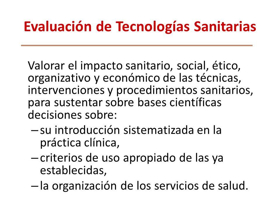 Evaluación de Tecnologías Sanitarias