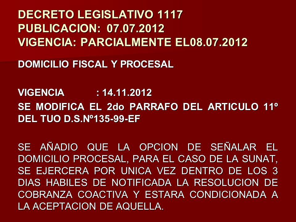 DECRETO LEGISLATIVO 1117 PUBLICACION:. 07. 07