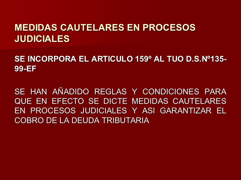 MEDIDAS CAUTELARES EN PROCESOS JUDICIALES