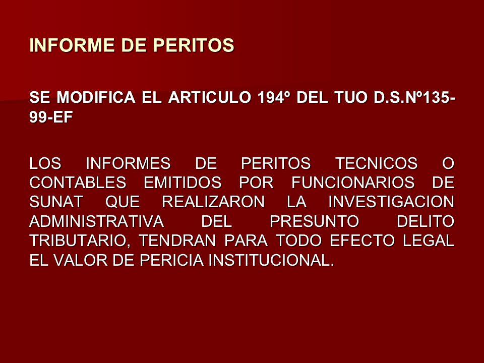 INFORME DE PERITOS