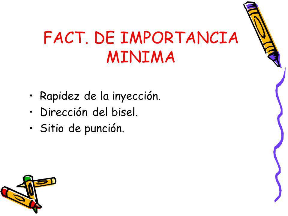 FACT. DE IMPORTANCIA MINIMA