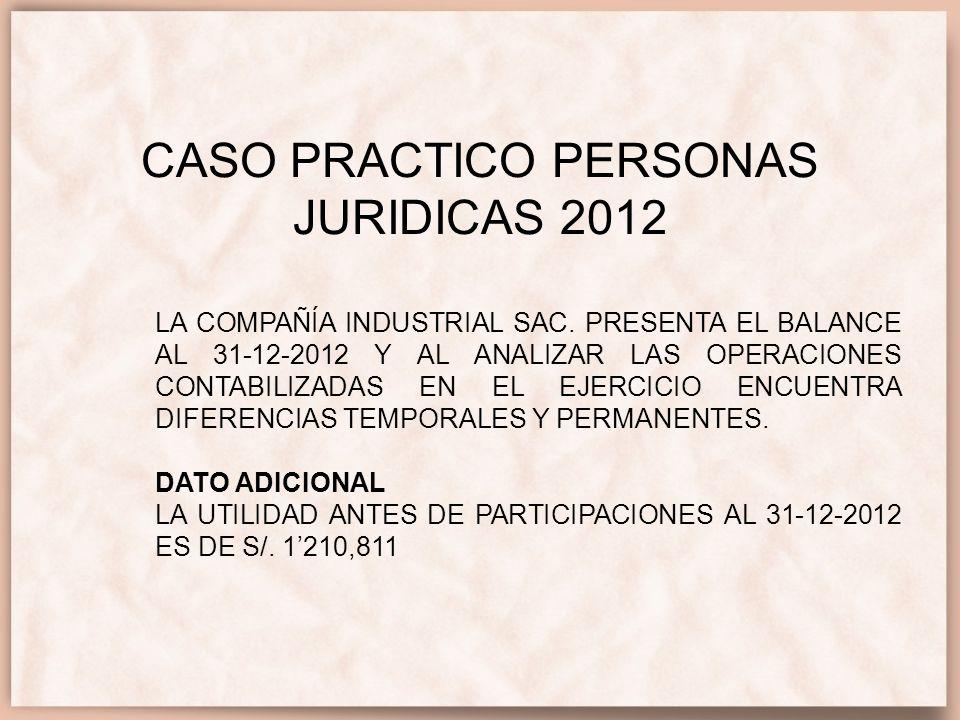 CASO PRACTICO PERSONAS JURIDICAS 2012