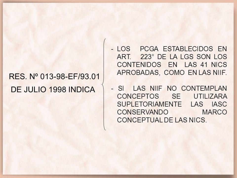 RES. Nº 013-98-EF/93.01 DE JULIO 1998 INDICA