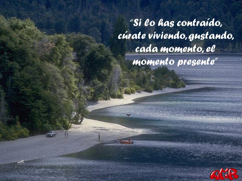 Si lo has contraído, cúrate viviendo, gustando, cada momento, el momento presente
