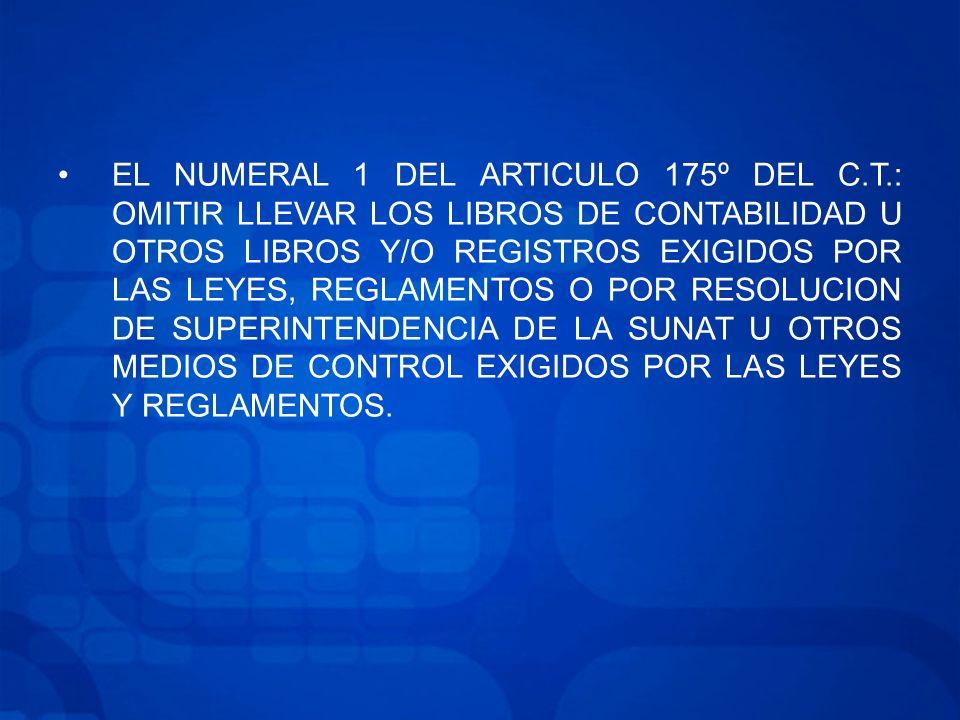EL NUMERAL 1 DEL ARTICULO 175º DEL C. T