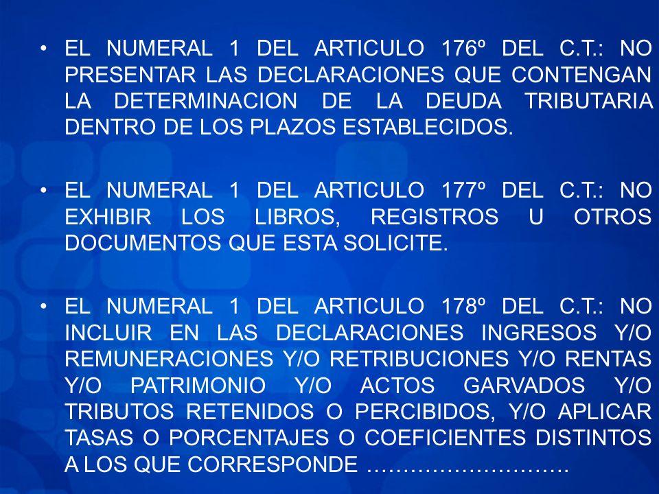EL NUMERAL 1 DEL ARTICULO 176º DEL C. T