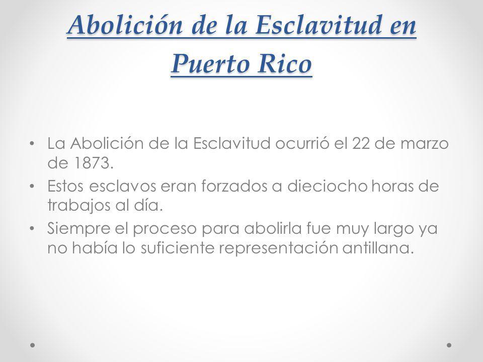 Abolición de la Esclavitud en Puerto Rico