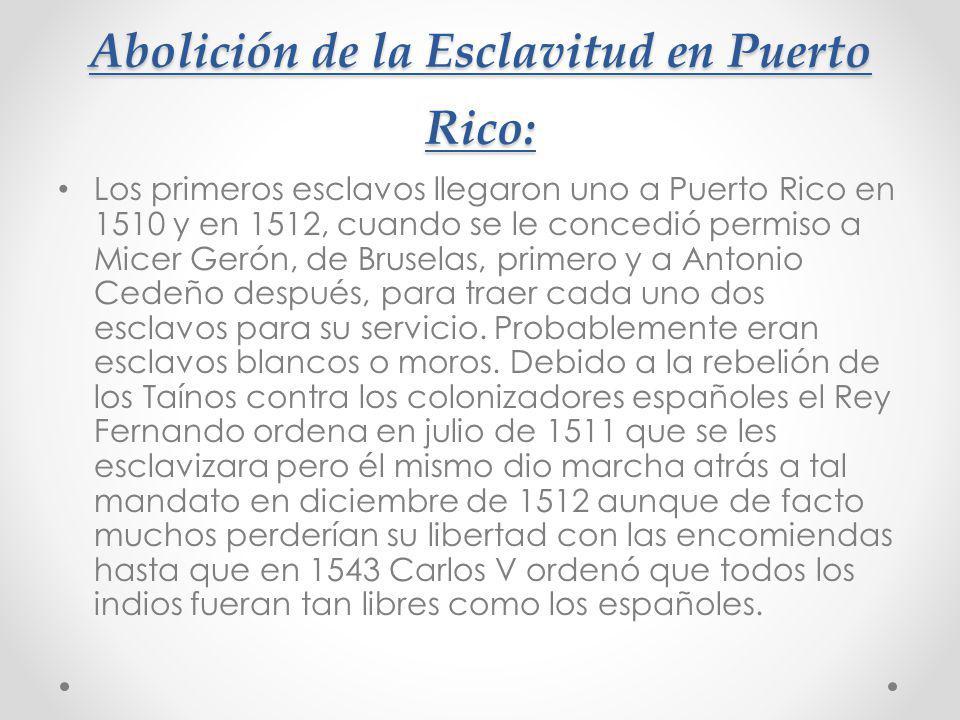 Abolición de la Esclavitud en Puerto Rico: