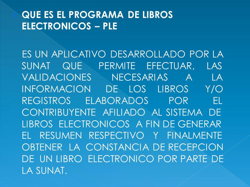 QUE ES EL PROGRAMA DE LIBROS ELECTRONICOS – PLE