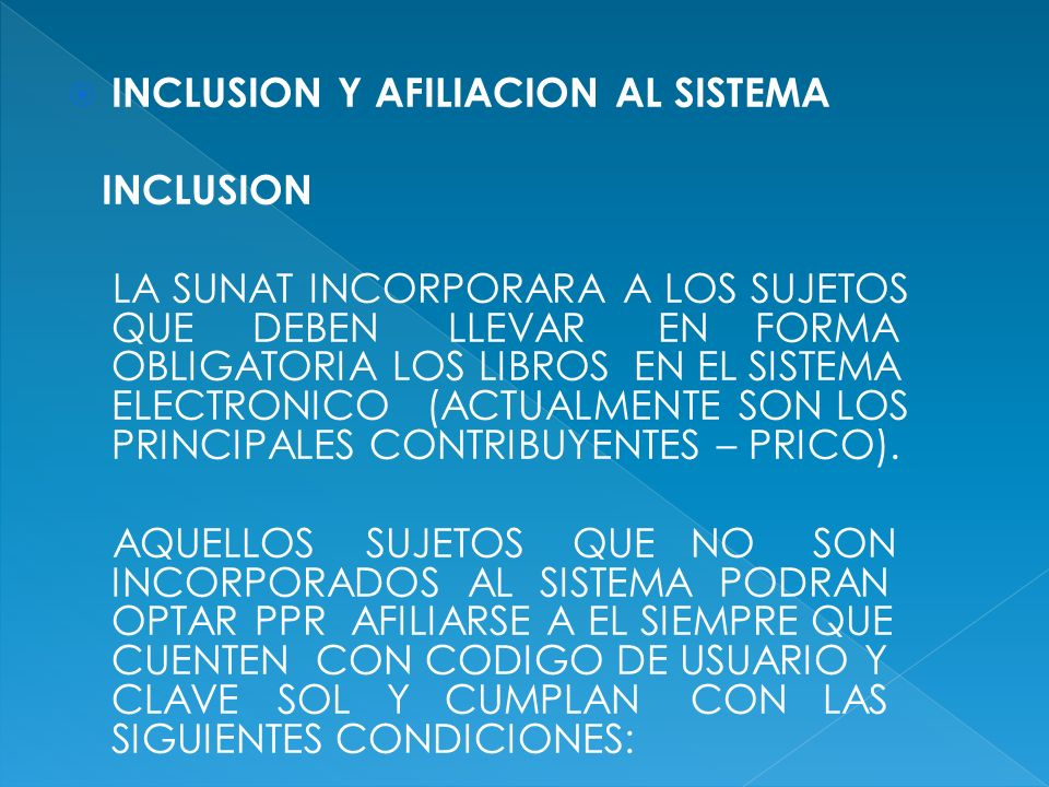 INCLUSION Y AFILIACION AL SISTEMA