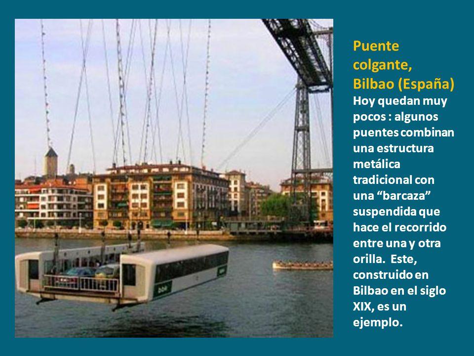 Puente colgante, Bilbao (España)