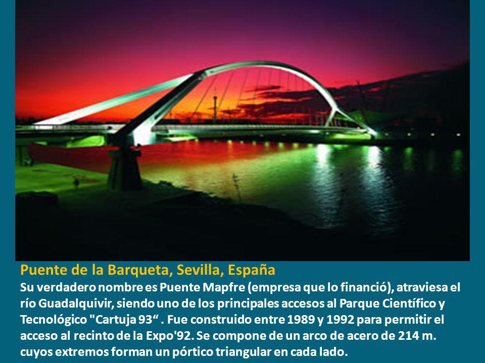 Puente de la Barqueta, Sevilla, España