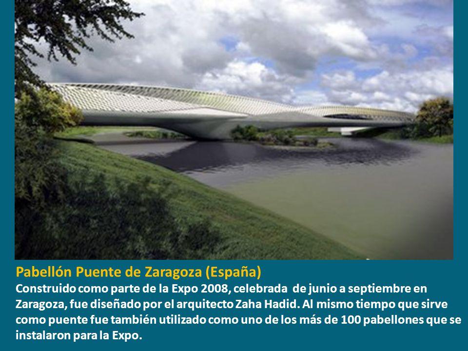 Pabellón Puente de Zaragoza (España)
