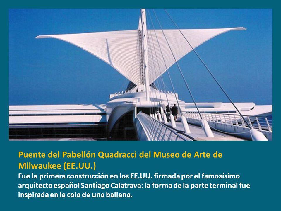 Puente del Pabellón Quadracci del Museo de Arte de Milwaukee (EE.UU.)