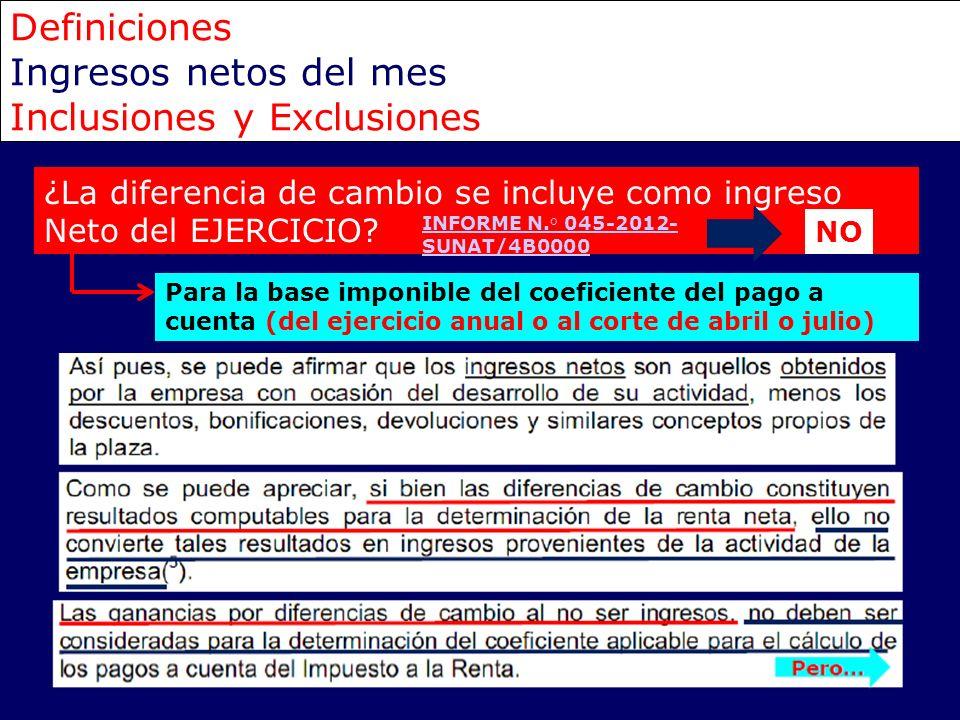 Inclusiones y Exclusiones