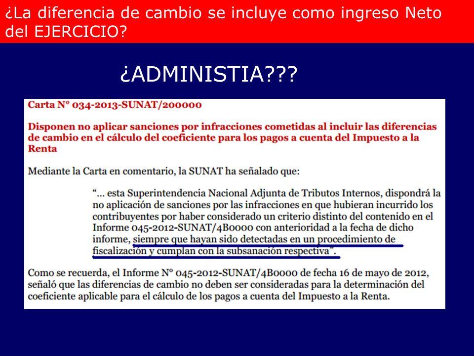¿La diferencia de cambio se incluye como ingreso Neto del EJERCICIO