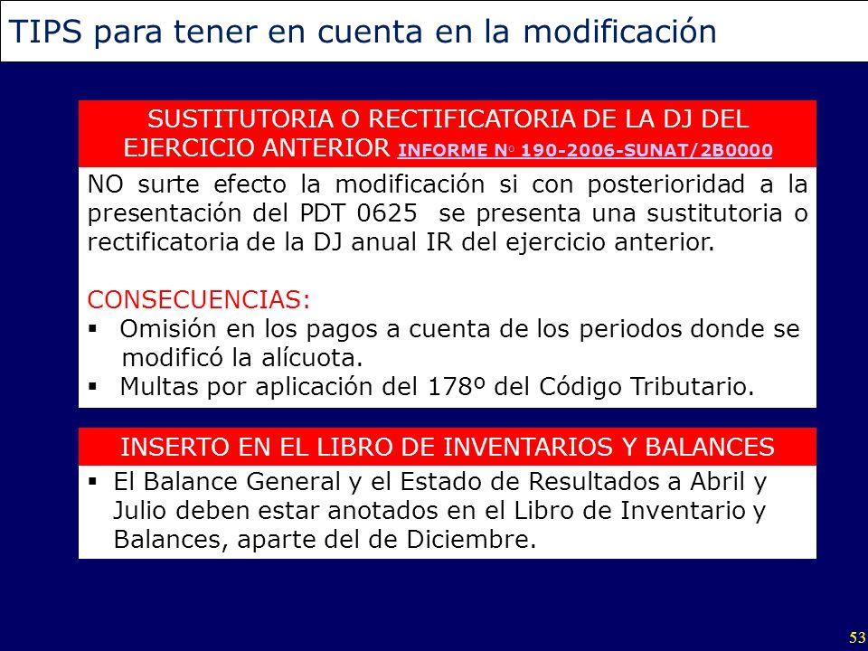 INSERTO EN EL LIBRO DE INVENTARIOS Y BALANCES