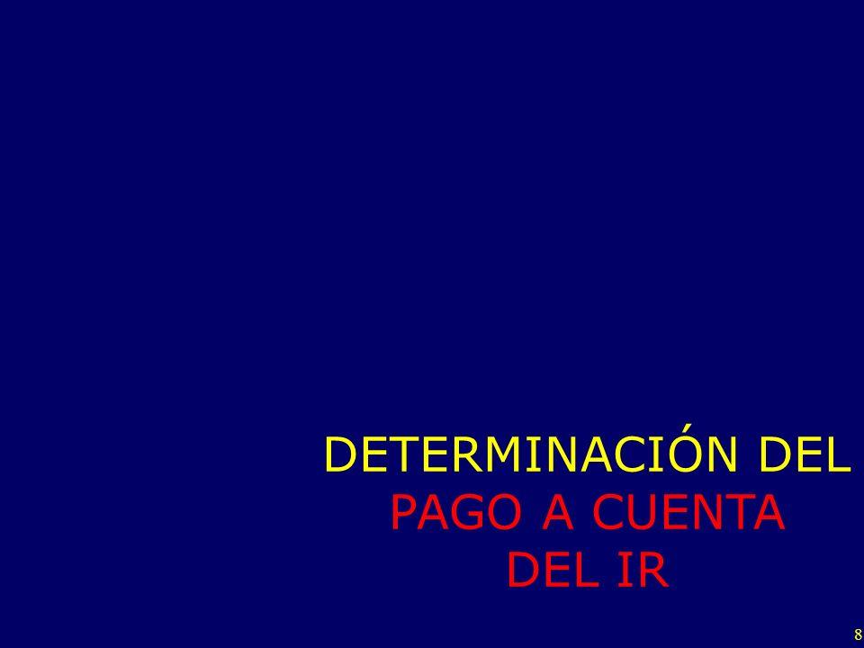 DETERMINACIÓN DEL PAGO A CUENTA