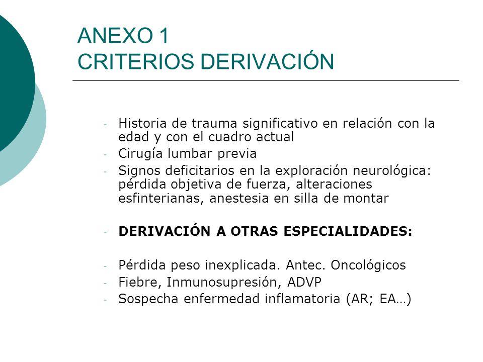 ANEXO 1 CRITERIOS DERIVACIÓN