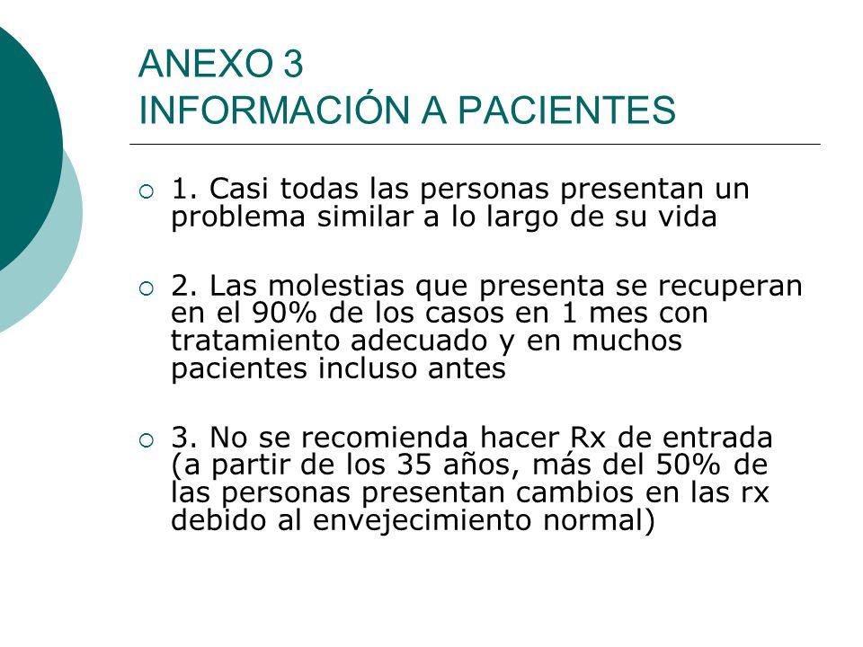 ANEXO 3 INFORMACIÓN A PACIENTES