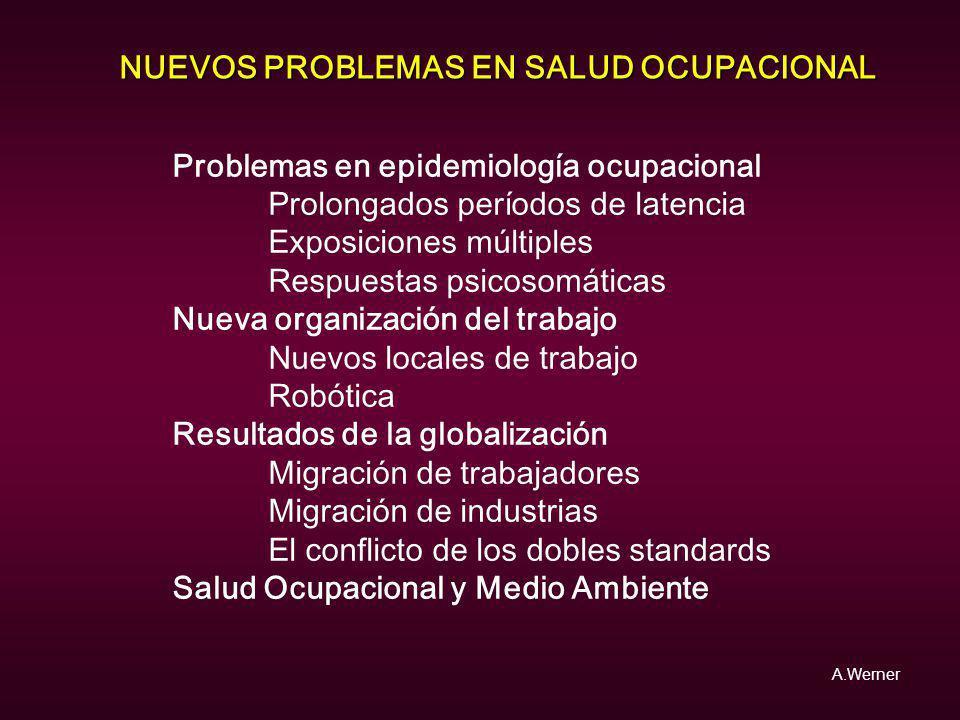 NUEVOS PROBLEMAS EN SALUD OCUPACIONAL