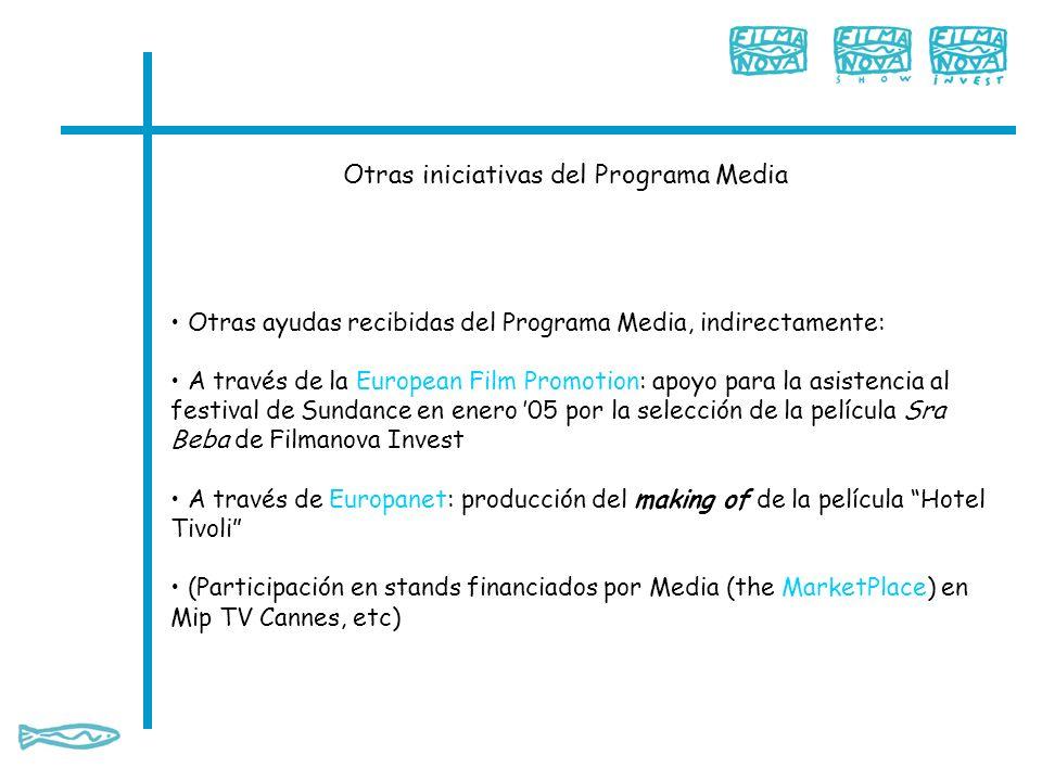 Otras iniciativas del Programa Media