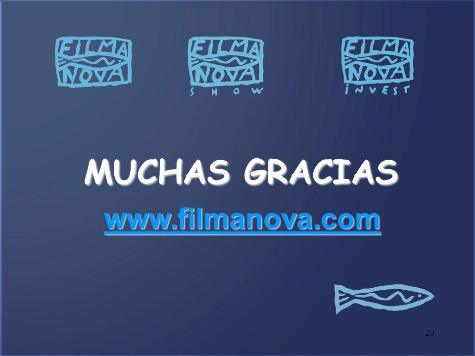 MUCHAS GRACIAS www.filmanova.com