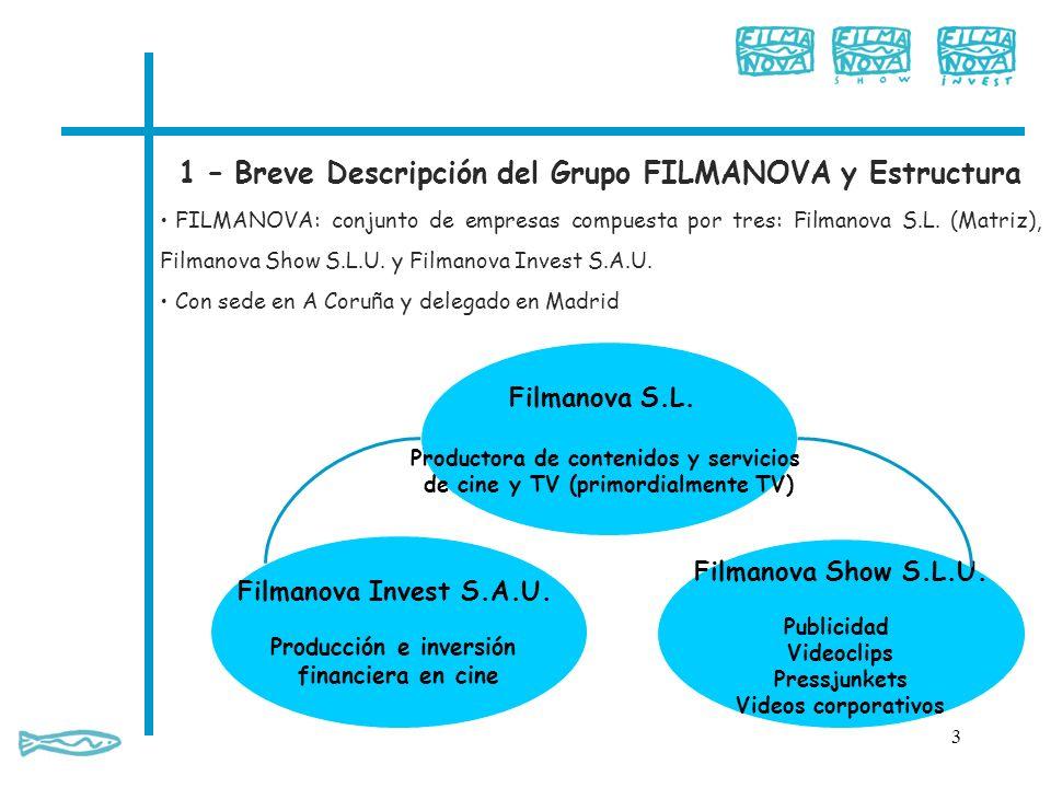 1 – Breve Descripción del Grupo FILMANOVA y Estructura