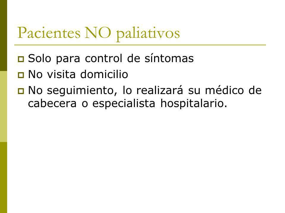 Pacientes NO paliativos