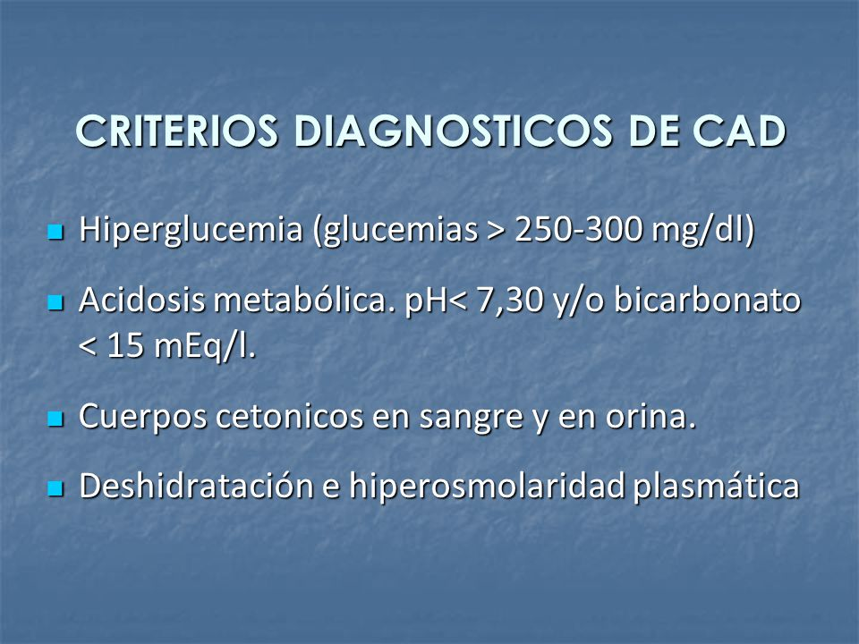 CRITERIOS DIAGNOSTICOS DE CAD